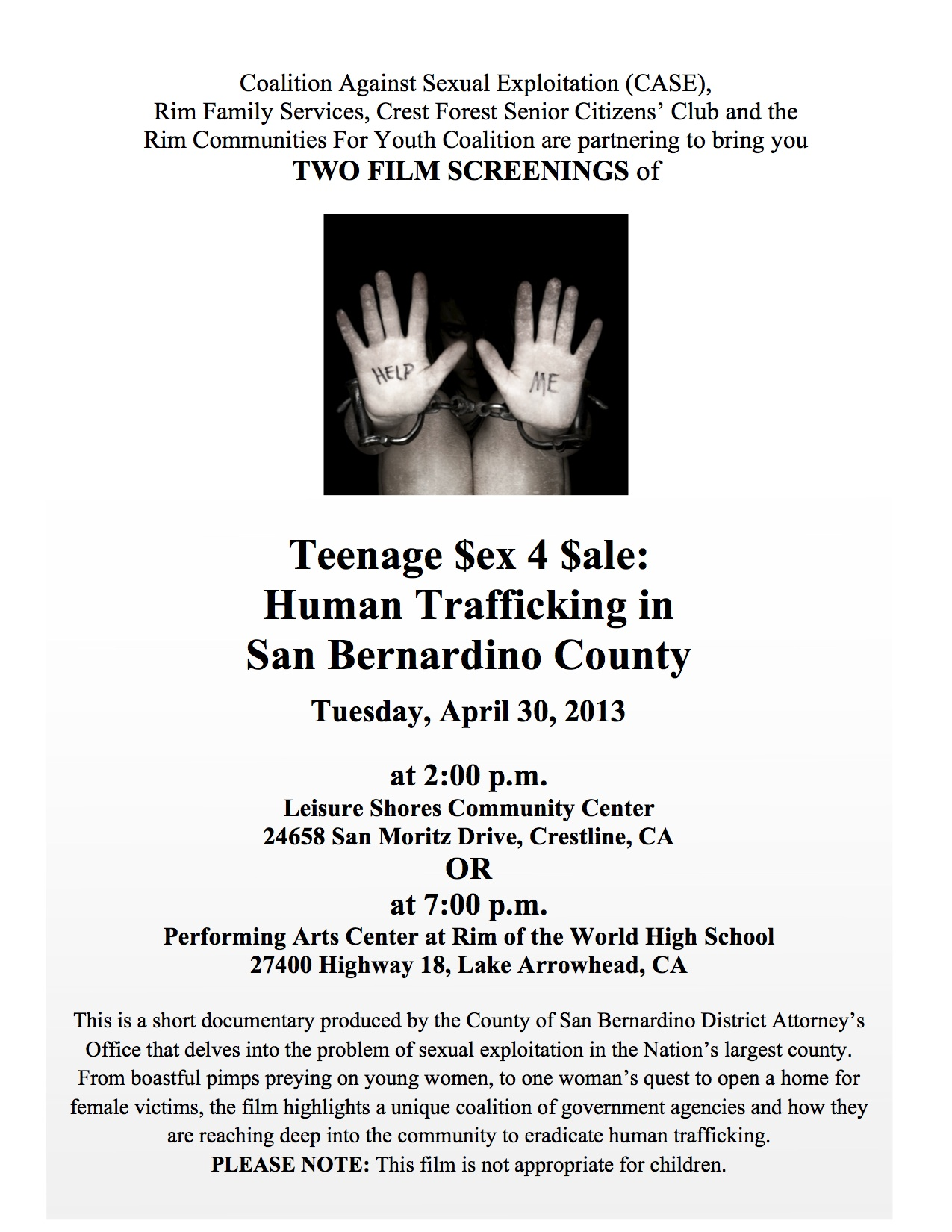 #2Human Trafficking Documentary Film Screening Flyer (2) - PIO revised 031413 copy